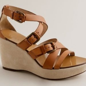 J.Crew Leather Wedge Sandals